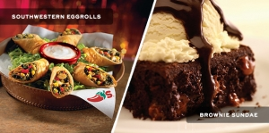 Chili's has coupons for a free appetizer or dessert with purchase of an adult meal.