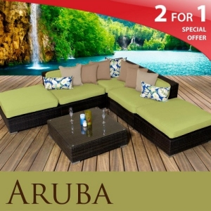 Aruba 6-piece wicker set from Design Furnishings