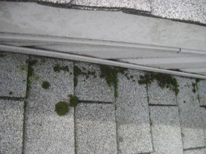 Powerwashing roof