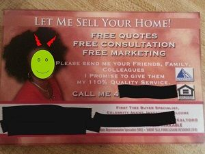 Buyer Agent Leavs Card