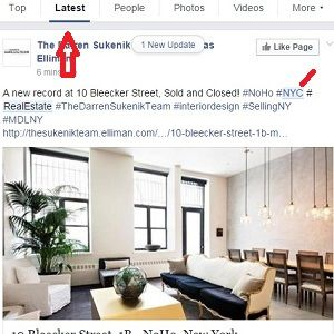 Facebook search SEO for Real Estate Agents