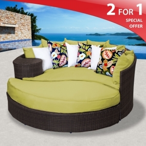 zen outdoor wicker patio daybed at design furnishings