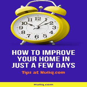 How to Improve Your Home in a Few Days